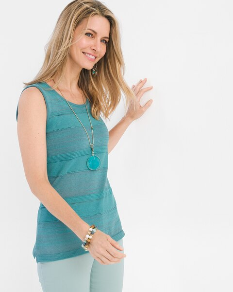 3b7aa78189aed Return to thumbnail image selection Textured Mix Sweater Tank video preview  image