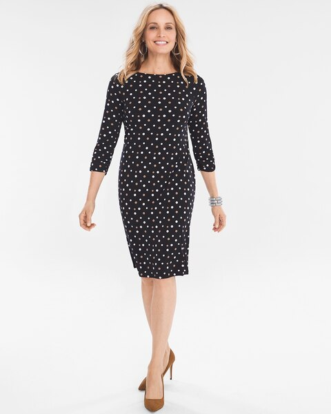 c9344f64ca8 Return to thumbnail image selection Dot Ruched-Sleeve Dress video preview  image