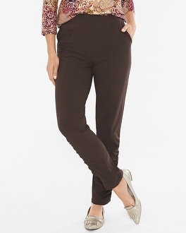 Chico's Lightweight Neema Ruched-Detail Pants at Chico's in Auburn, GA | Tuggl