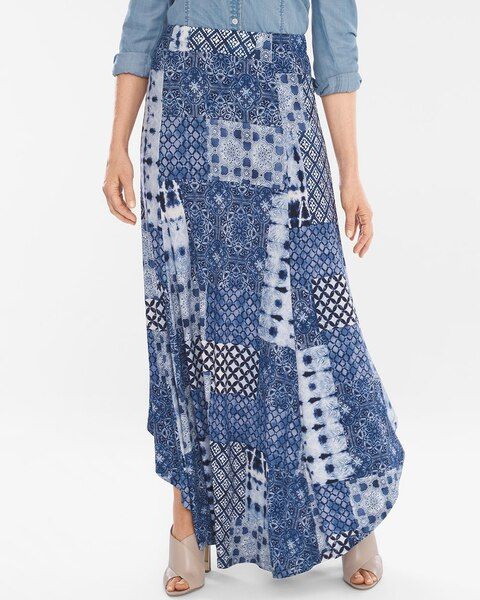 45d78d574 Return to thumbnail image selection Tile-Print Maxi Skirt video preview  image, click to start video