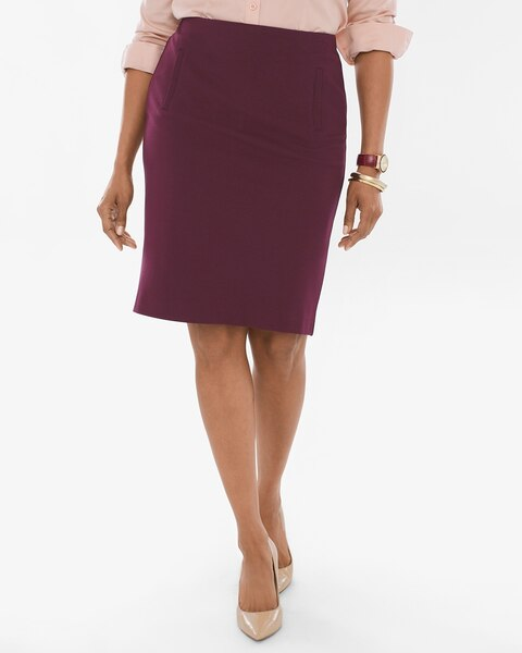 4d1ac79885 Return to thumbnail image selection Ponte Pencil Skirt video preview image,  click to start video