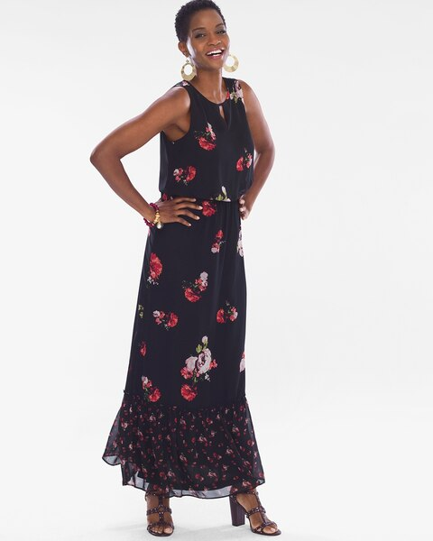 668faf5b4ef Return to thumbnail image selection Floral Maxi Dress video preview image