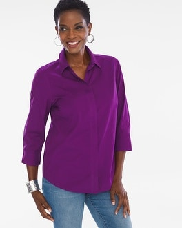 Chico's Cotton Button-Back Shirt | Tuggl