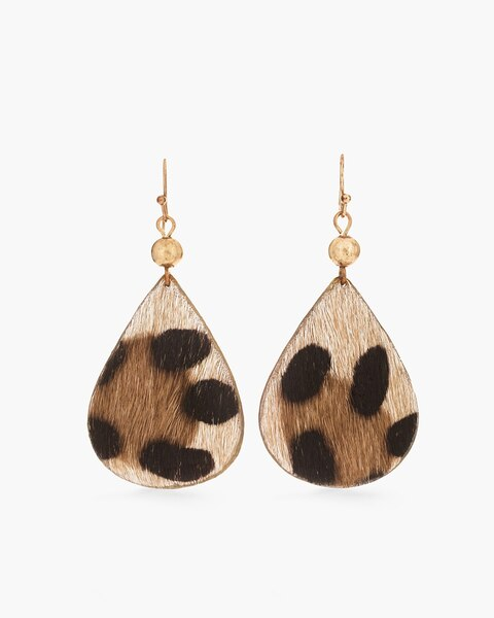 Haircalf Leopard Print Drop Earrings