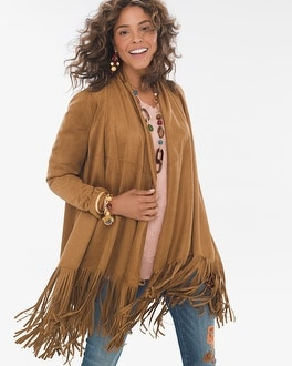 Chico's Sueded Fringe Jacket at Chico's in Auburn, GA | Tuggl