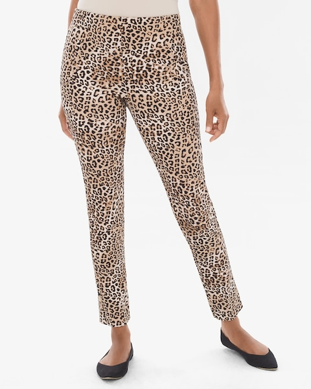 So Slimming Juliet Leopard-Print Ankle Pants