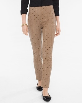 Chico's So Slimming Juliet Straight-Leg Herringbone Pants | Tuggl