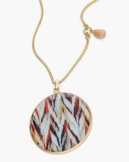 Chico's Reversible Neutral-Chevron Pendant Necklace at Chico's in Brooklyn, NY | Tuggl