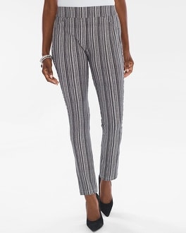 Chico's Striped Crepe Pants | Tuggl
