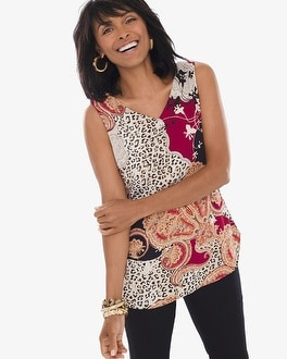 Chico's Reversible Leopard-Mixed Print Tank | Tuggl