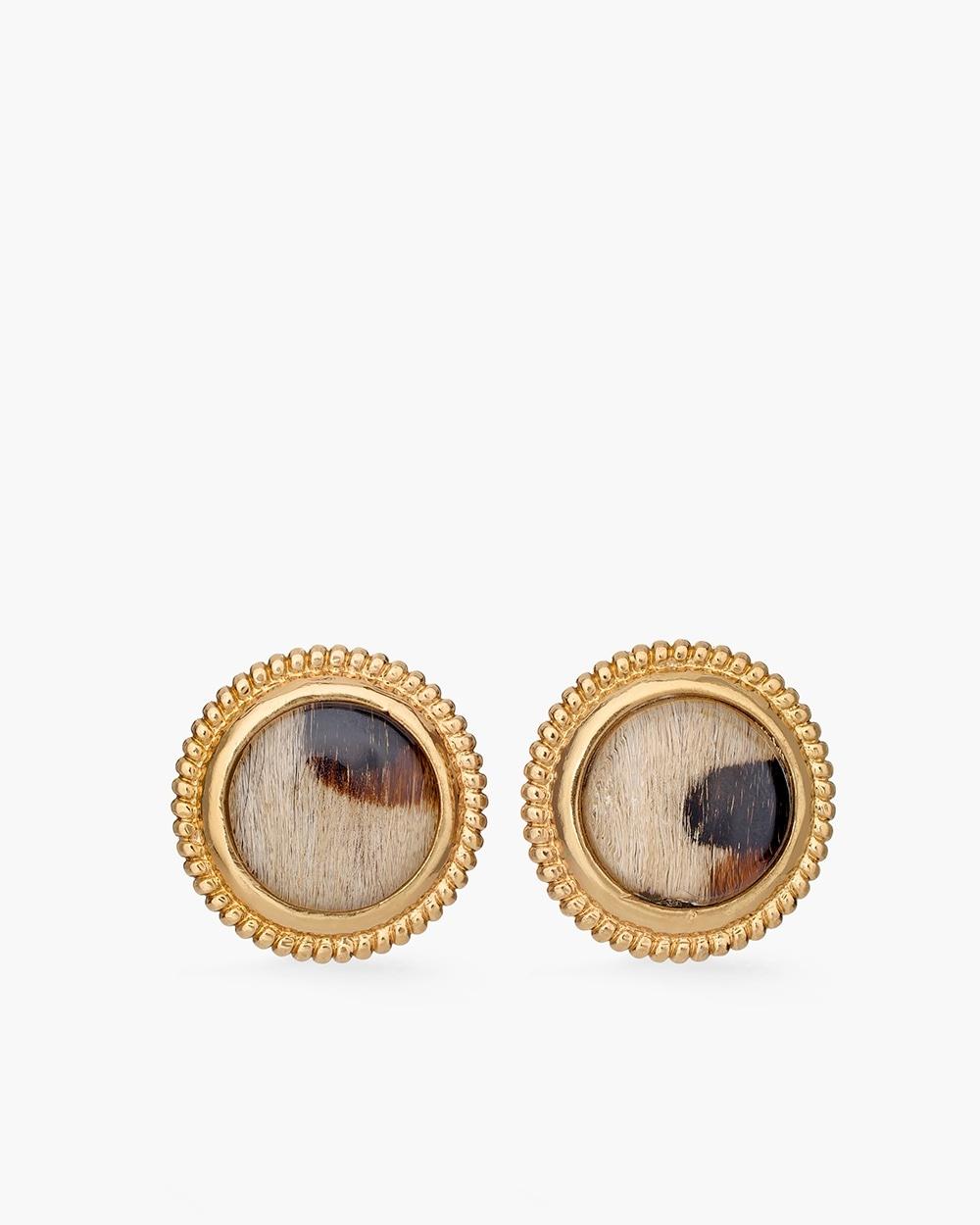 Leopard Print Clip On Earrings