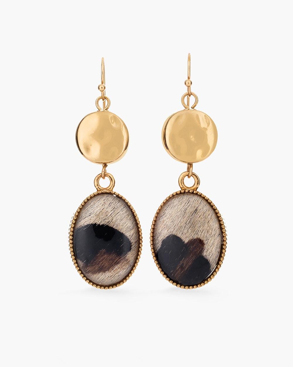 Reversible Leopard-Print Drop Earrings - Chico s 5ada568e4