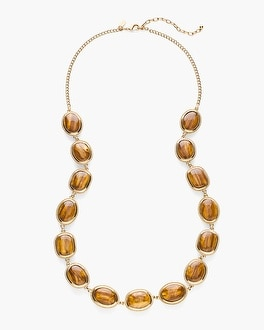 Chico's Reversible Leopard-Print Single-Strand Necklace | Tuggl
