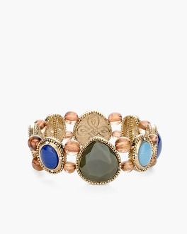 Chico's Reversible Multi-Colored Stretch Bracelet | Tuggl