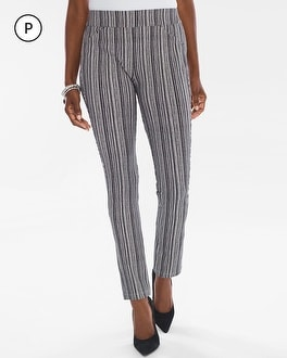 Chico's Petite Striped Crepe Pants | Tuggl