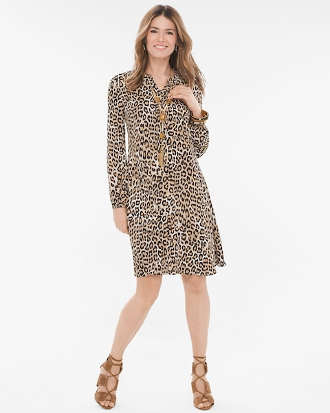 9129574b605f Return to thumbnail image selection Leopard-Print Dress video preview  image, click to start video