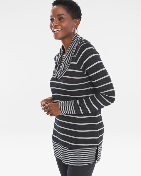 07be37a9711d2d Striped Cowl-Neck Tunic - Chico s