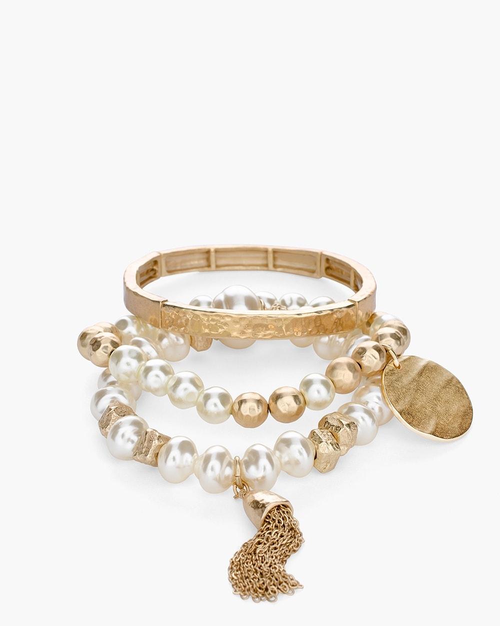 23b809a97901a Faux-Pearl Stretch Bracelet Set