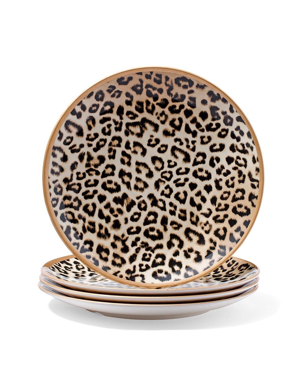 large leopard-print plate set - chico's