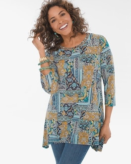 Chico's Patchwork Hardware Tunic | Tuggl