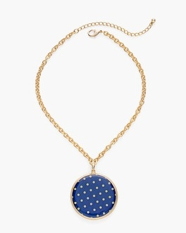 Chico's Reversible Paisley-Dot Pendant Necklace | Tuggl