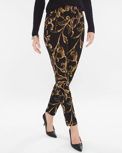 Juliet Bi-Color Scroll Ankle Pants