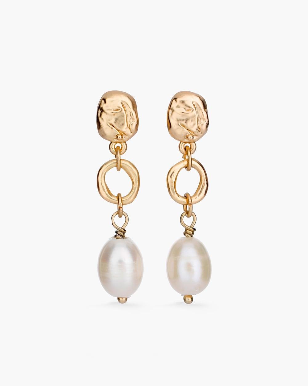 570246757 Video Zoom Faux Pearl Drop Earrings