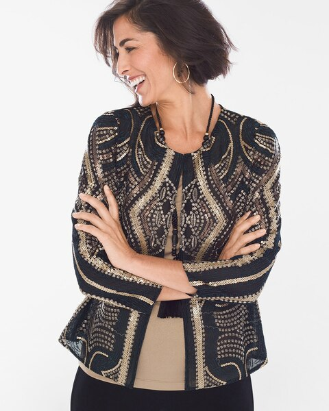 51636c02d Black and Gold Sequin Jacket