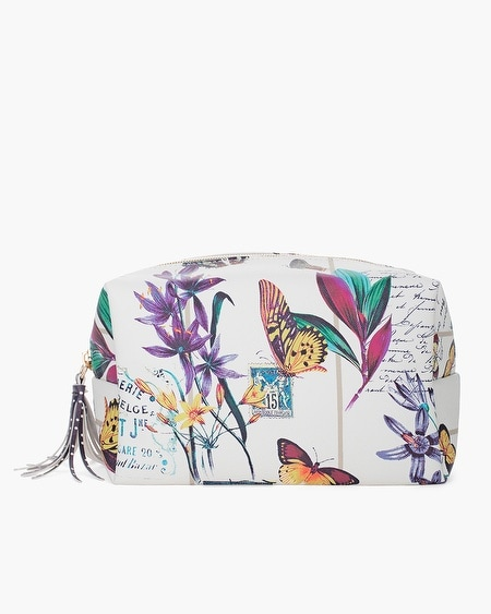 Chico S Botanical Print Cosmetic Pouch