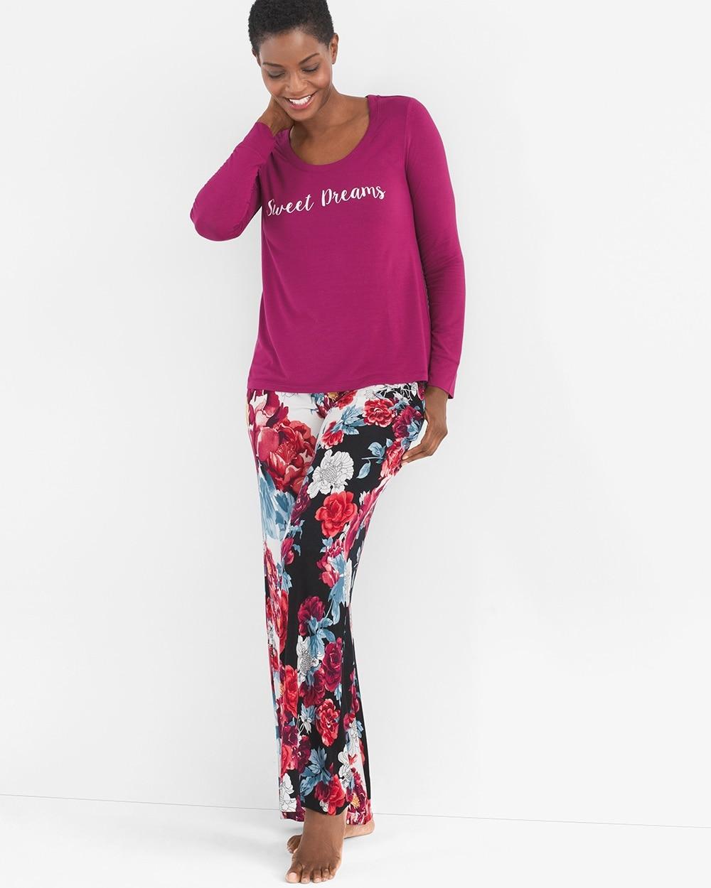e5adbfacae 570248008. Video. Zoom. Rose-Print Pajama Set