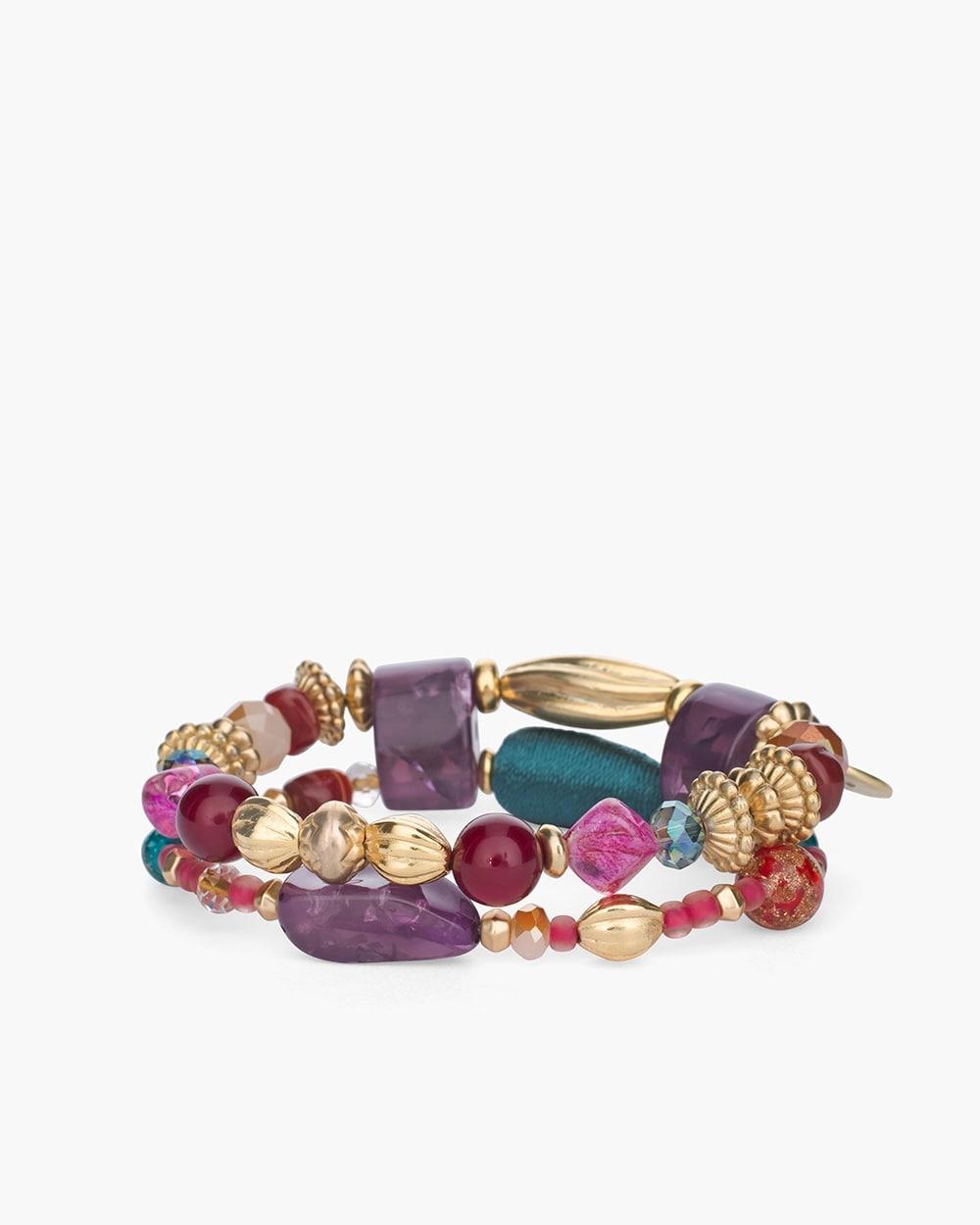 772726ee81 Multi-Colored Stone Stretch Bracelet - Chico s