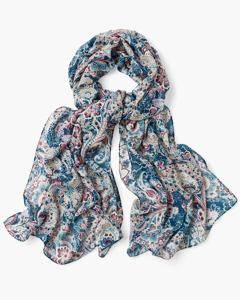 1354eea2e943d Floral Lace-Print Scarf - Chico's