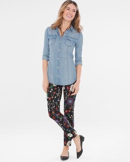 d92c8d4d60a So Slimming Juliet Mystique Floral Ankle Pants