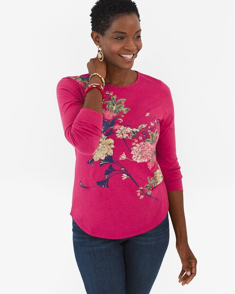 bb8a6c633a9e Floral-Embroidered Long-Sleeve Top - Chico's