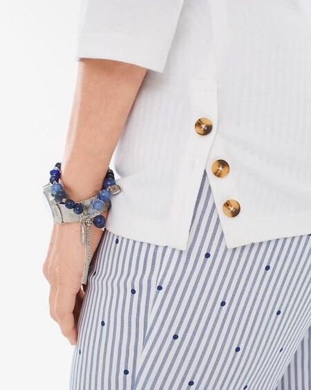 b21f78aa1 Supima Cotton Side-Button Bateau-Neck Top