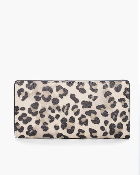 Chico S Large Leopard Print Rfid Wallet