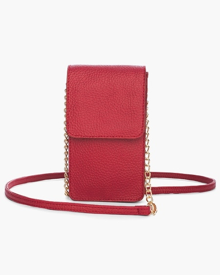 Chico S Red Crossbody Rfid Cell Phone Case