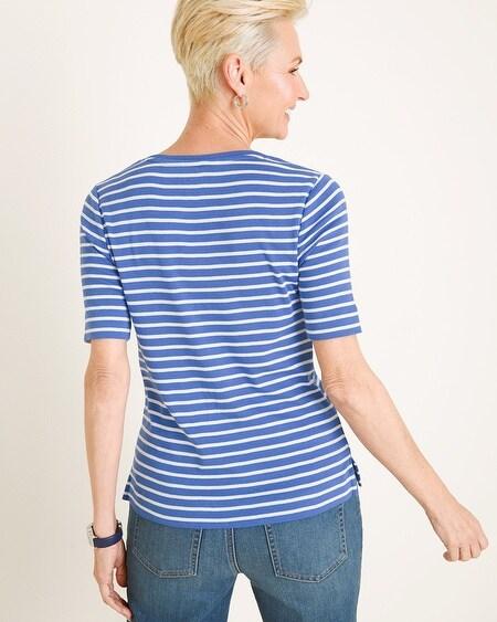 156d31fcee5 Striped Supima Cotton V-Neck Tee