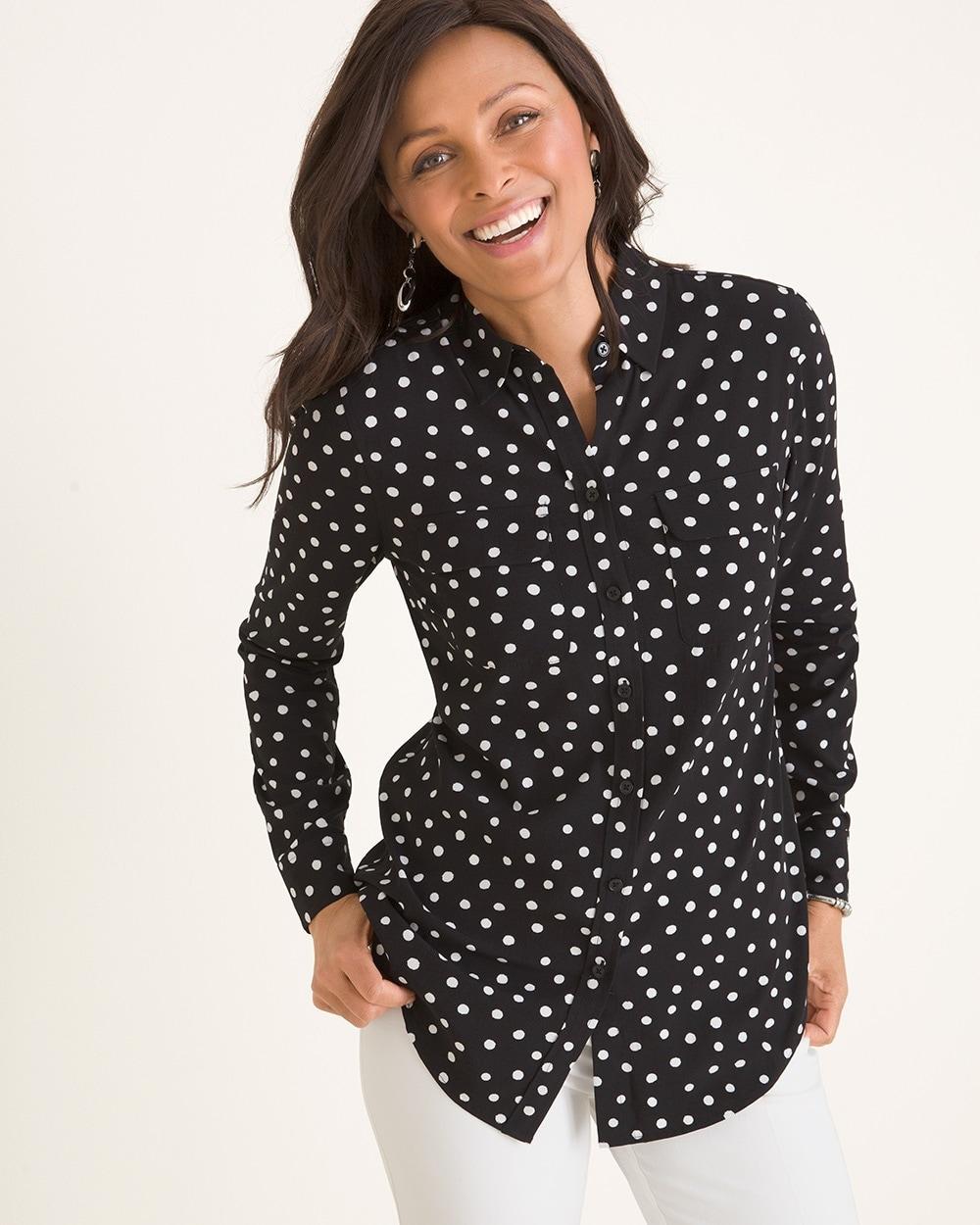 Silky Soft Dot Shirt
