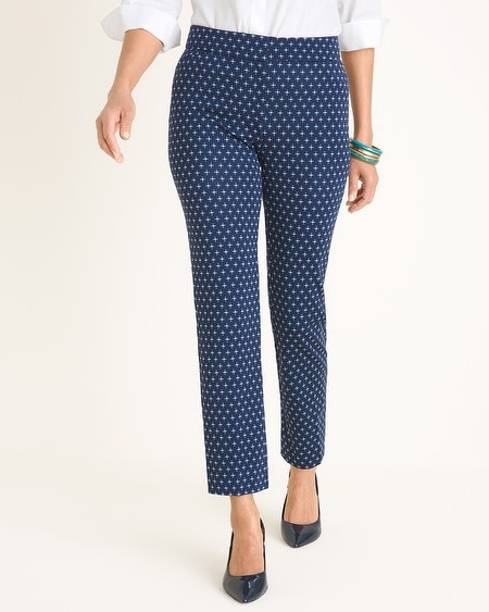 536e3c97cfbe Chico s. Ponte Medallion-Print Tapered Ankle Pants