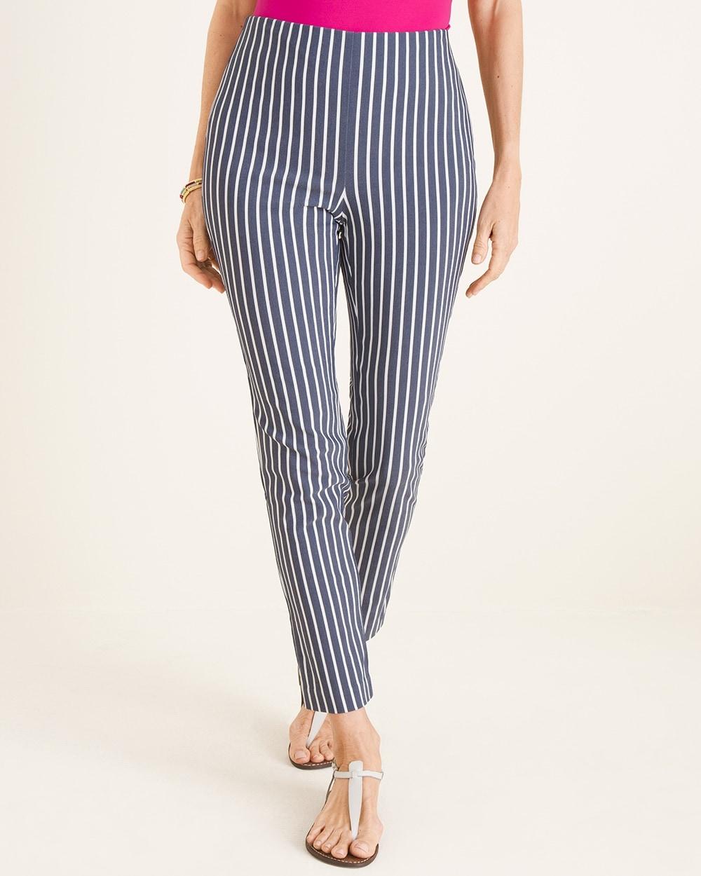 Brigitte Blue Striped Ankle Pants by So Slimming
