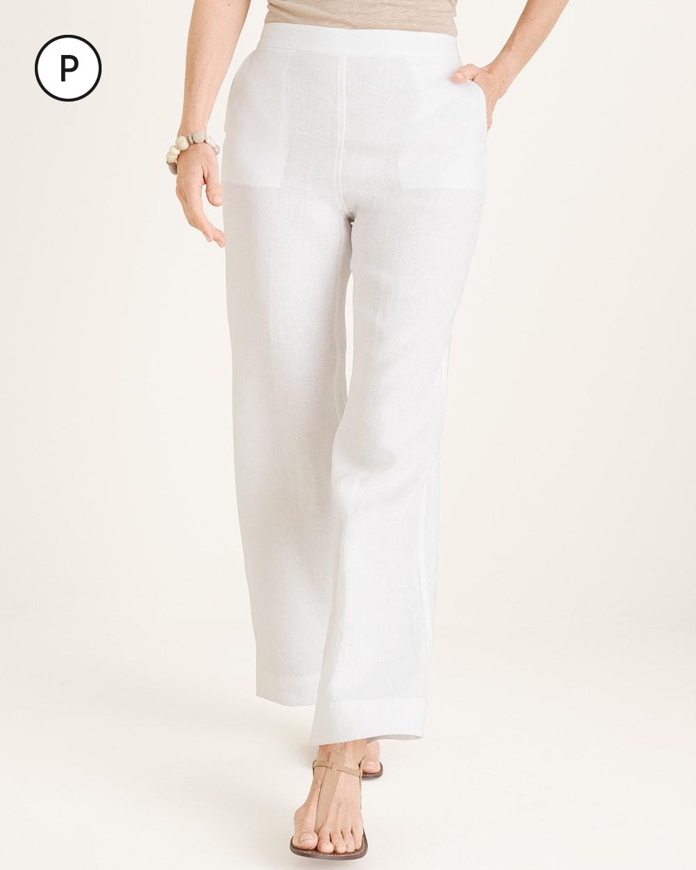 6d978155c76c Petite Straight-Leg Linen Pants - Chico's