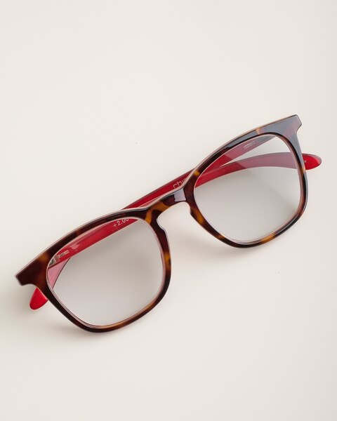 2accfe56d0 Faux-Tortoiseshell Red-Temple Reading Glasses - Chico s
