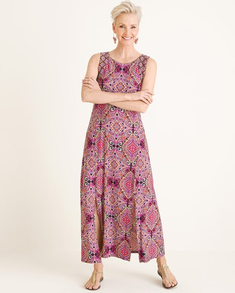 1441858e667 Return to thumbnail image selection Tile-Print Maxi Dress video preview  image