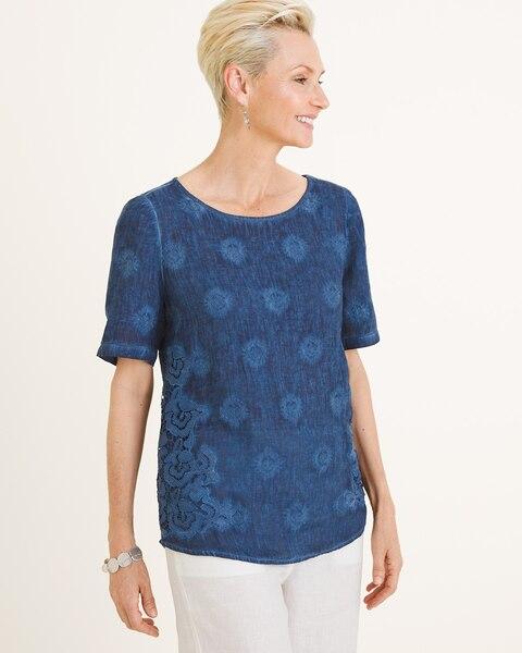 6211eced3cd4 Embroidered Linen Top - Chico's