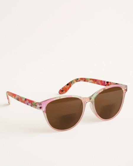 5d8272b1f687 Floral-Print Bifocal Sun Reading Glasses. Quick Shop