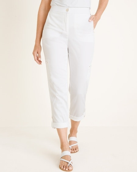 d133392faeb Secret Stretch Luxe Utility Convertible Crop to Ankle Pants