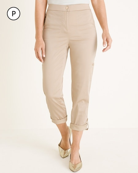 1006d8e0dfd5 Chico's. Petite Secret Stretch Luxe Utility Convertible Crop to Ankle Pants