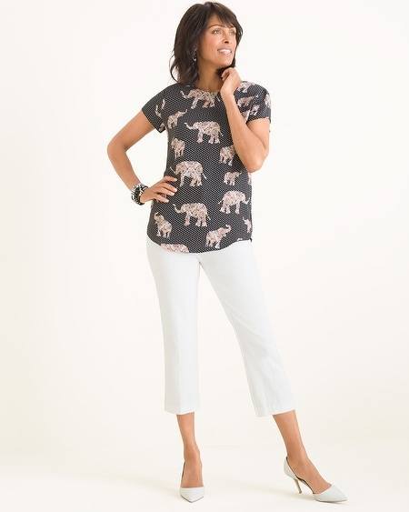 fc2f7c4dd40a Reversible Solid to Dot Elephant-Print Tee
