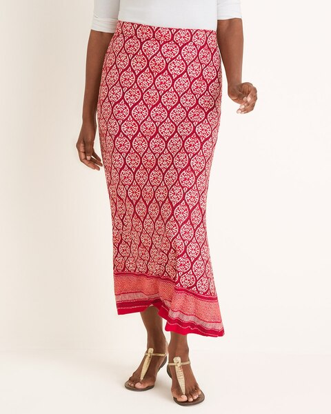 ce968fb107 Return to thumbnail image selection Printed Column Maxi Skirt video preview  image, click to start video